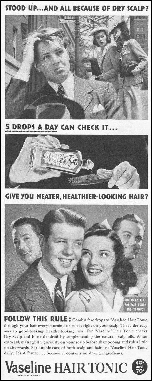 VASELINE HAIR TONIC LIFE 10/25/1943 p. 6