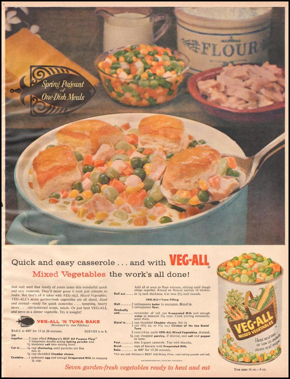 VEG-ALL MIXED VEGETABLES BETTER HOMES AND GARDENS 03/01/1960 p. 115