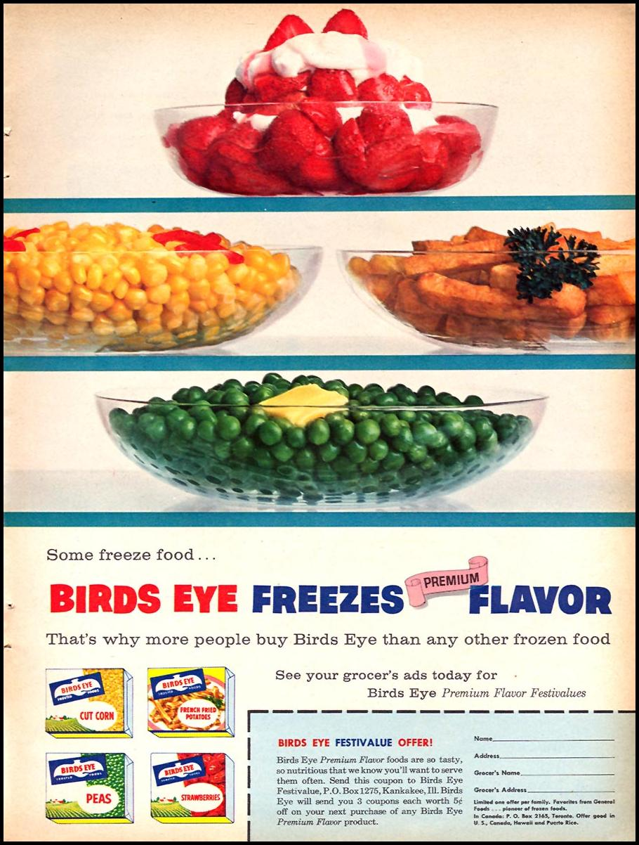 BIRDS EYE FROZEN FOODS FAMILY CIRCLE 02/01/1958 p. 11