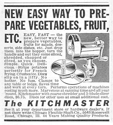 THE KITCHENMASTER GOOD HOUSEKEEPING 12/01/1934 p. 199