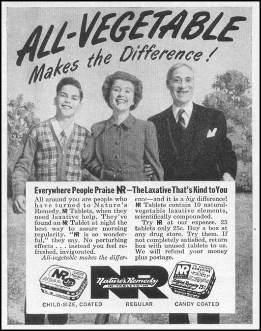 NATURE'S REMEDY LAXATIVE LIFE 04/17/1950 p. 170