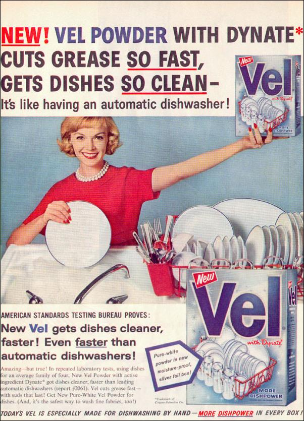 VEL POWDER DISHWASHING SOAP LIFE 02/02/1959 p. 45