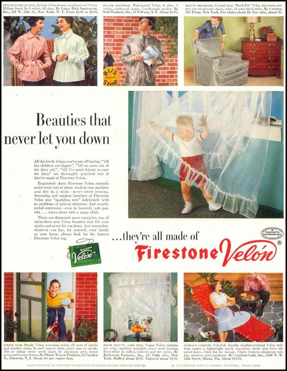 FIRESTONE VELON SATURDAY EVENING POST 03/26/1955 p. 81
