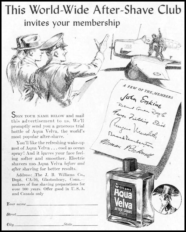 AQUA VELVA AFTER-SHAVE LOTION LIFE 06/23/1941 p. 72