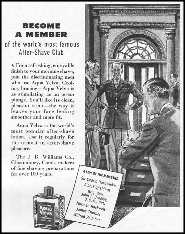 AQUA VELVA AFTER-SHAVE LOTION LIFE 11/25/1942 p. 129