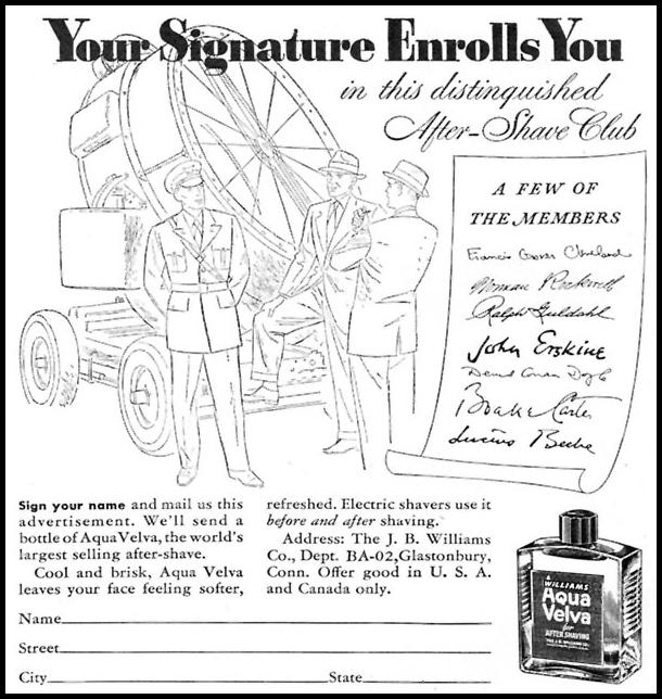 AQUA VELVA AFTER-SHAVE LOTION TIME 02/16/1942 p. 52