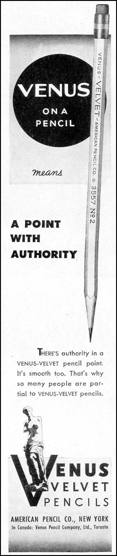 VENUS VELVET PENCILS LIFE 02/21/1944 p. 115