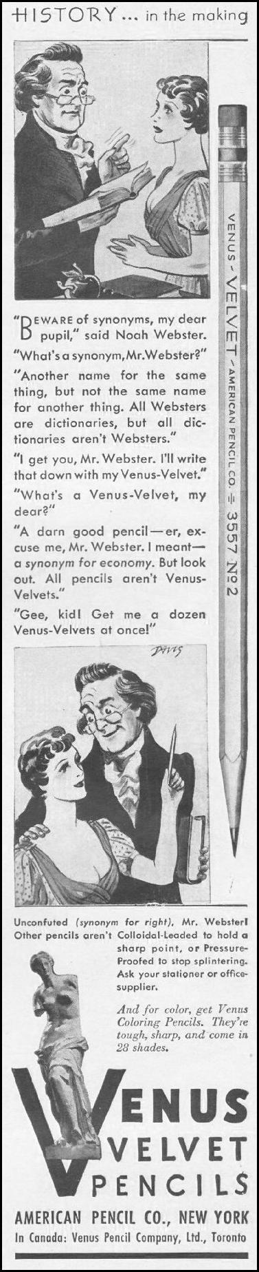 VENUS VELVET PENCILS LIFE 06/22/1942 p. 89