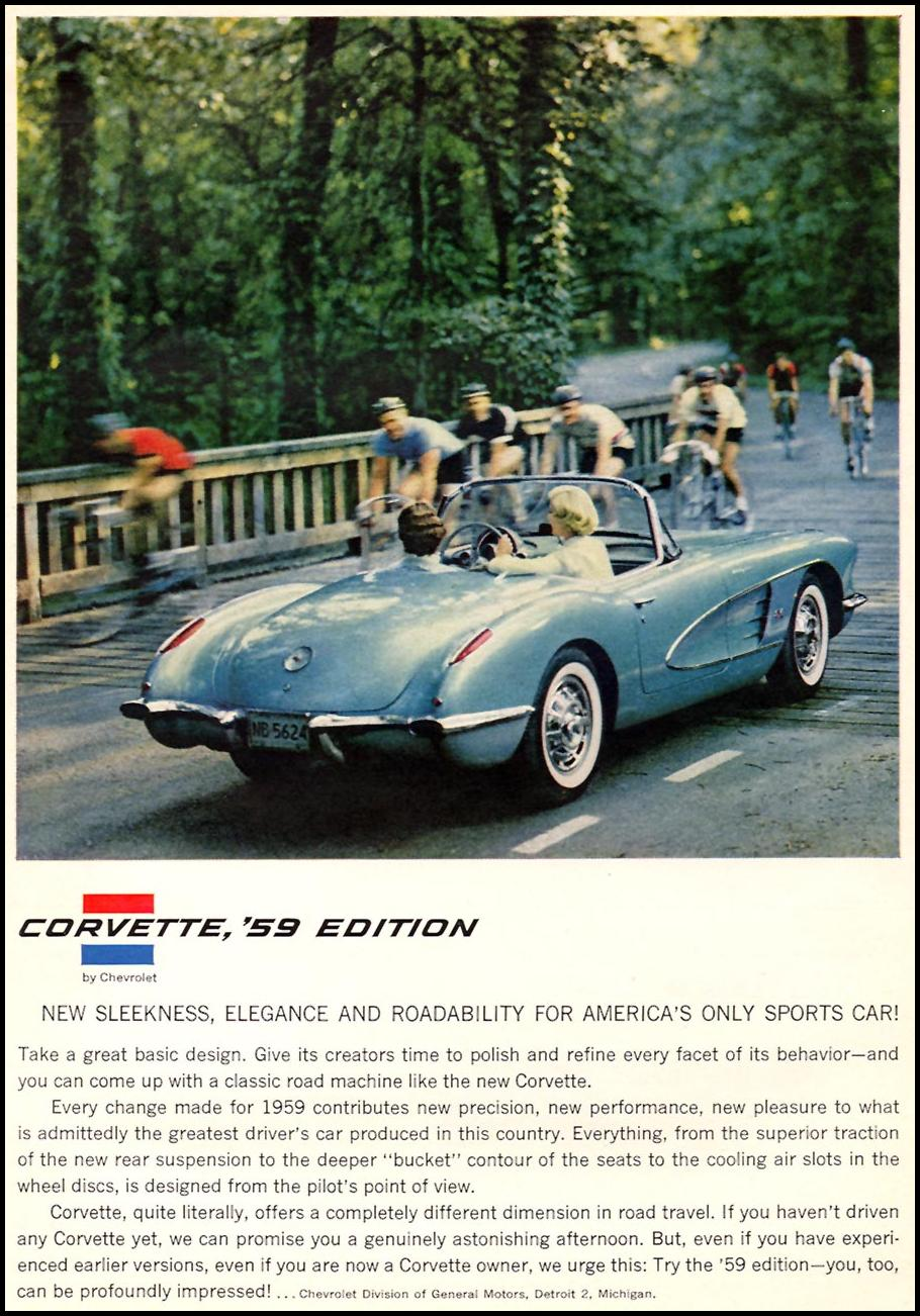 CHEVROLET AUTOMOBILES SPORTS ILLUSTRATED 01/12/1959 p. 29