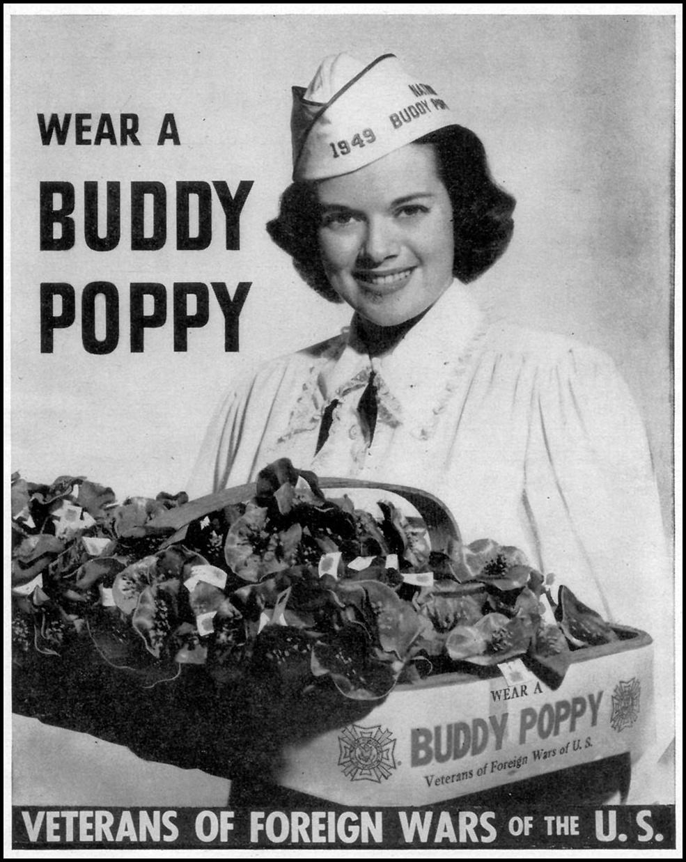 BUDDY POPPIES WOMAN'S DAY 11/01/1948 p. 137