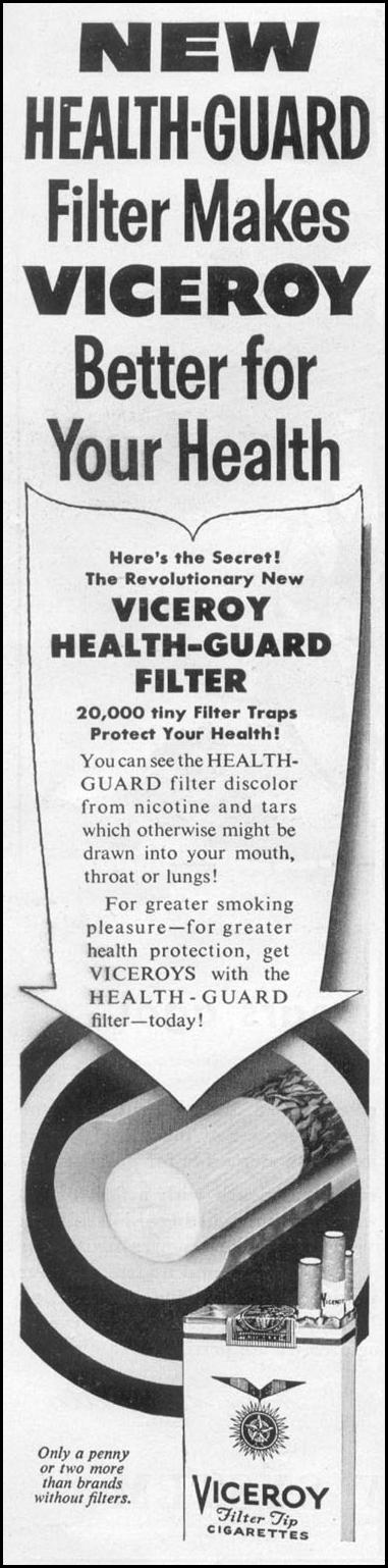 VICEROY CIGARETTES TIME 08/31/1953 p. 42