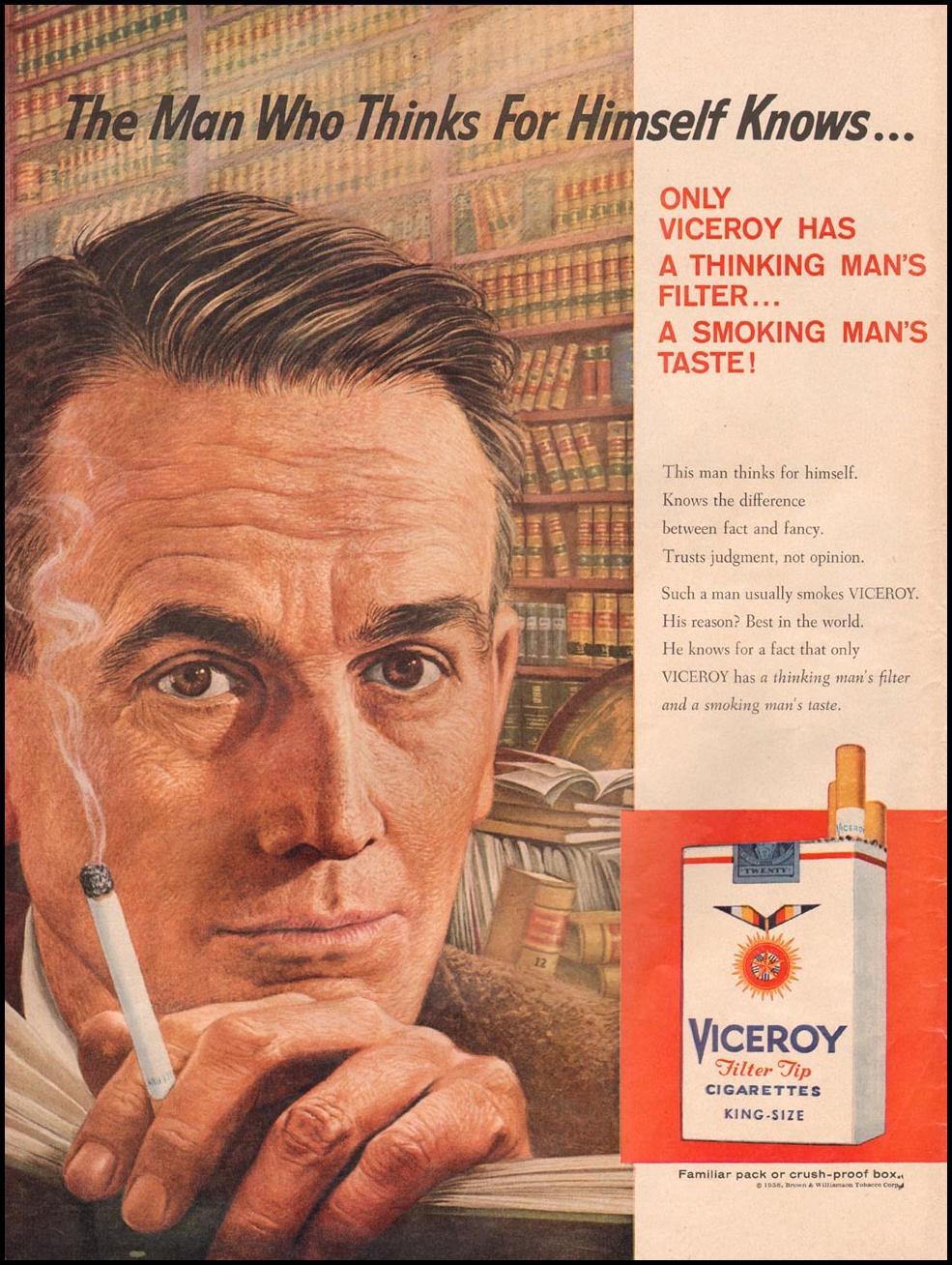 VICEROY CIGARETTES LIFE 09/15/1958