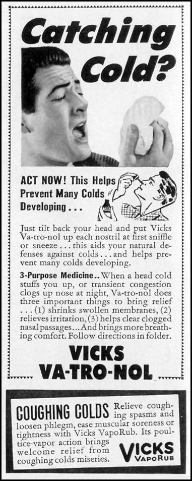 VICKS VA-TRO-NOL LIFE 10/13/1941 p. 26