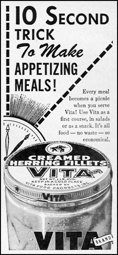 VITA CREAMED HERRING FILLETS FAMILY CIRCLE 02/01/1956 p. 80