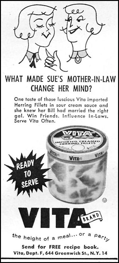 VITA CREAMED HERRING FILLETS FAMILY CIRCLE 11/01/1957 p. 87
