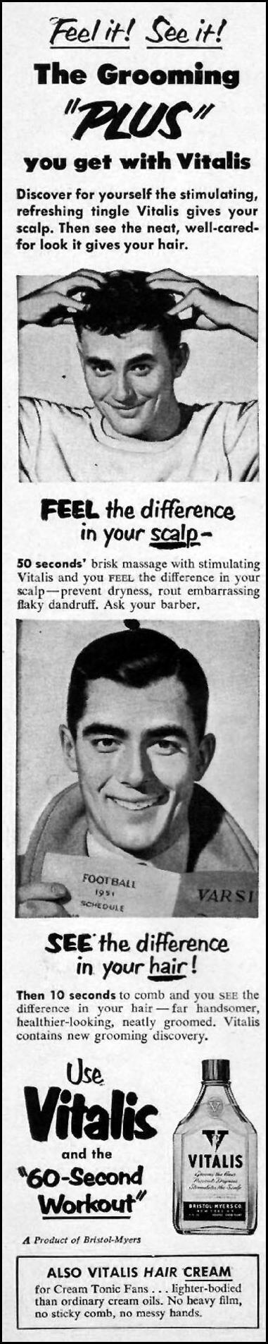 VITALIS HAIR TONIC LIFE 10/01/1951 p. 116