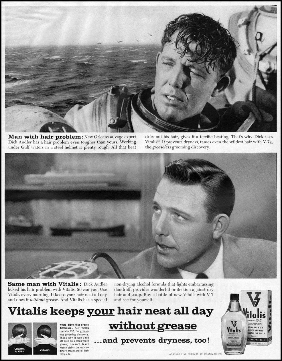 VITALIS HAIR TONIC LIFE 11/24/1957 p. 135