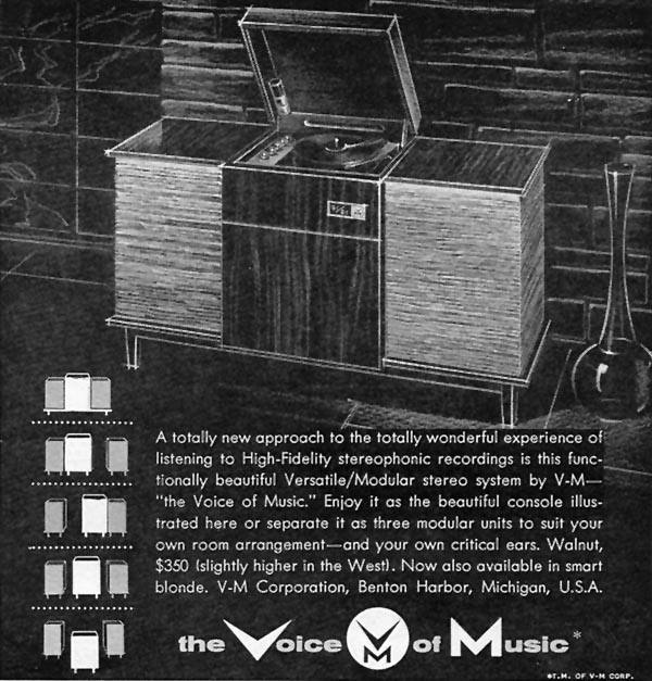 VOICE OF MUSIC MODULAR HI-FI SYSTEM SPORTS ILLUSTRATED 05/25/1959 p. 19