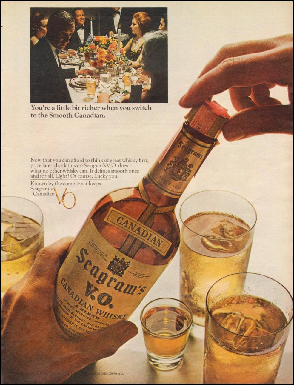 SEAGRAM'S V. O. CANADIAN WHISKEY LIFE 11/04/1966 p. 41