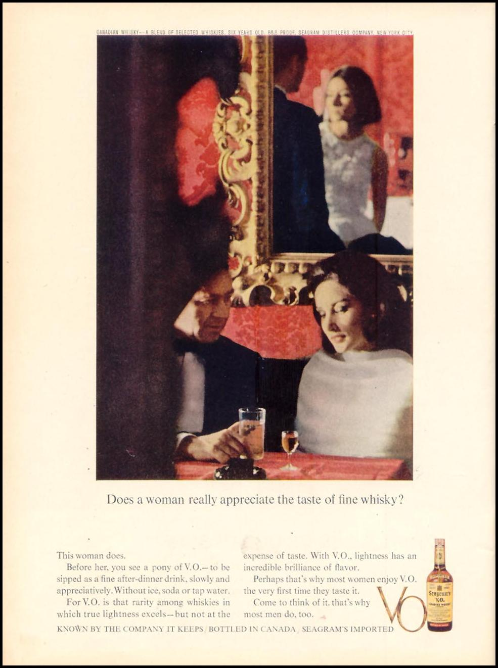 SEAGRAM'S V. O. CANADIAN WHISKEY TIME 05/03/1963 p. 104