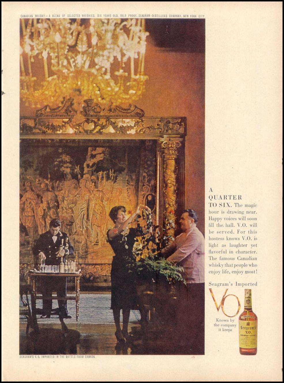 SEAGRAM'S V. O. CANADIAN WHISKEY TIME 11/17/1961