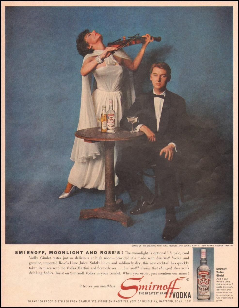 SMIRNOFF VODKA LIFE 05/05/1961