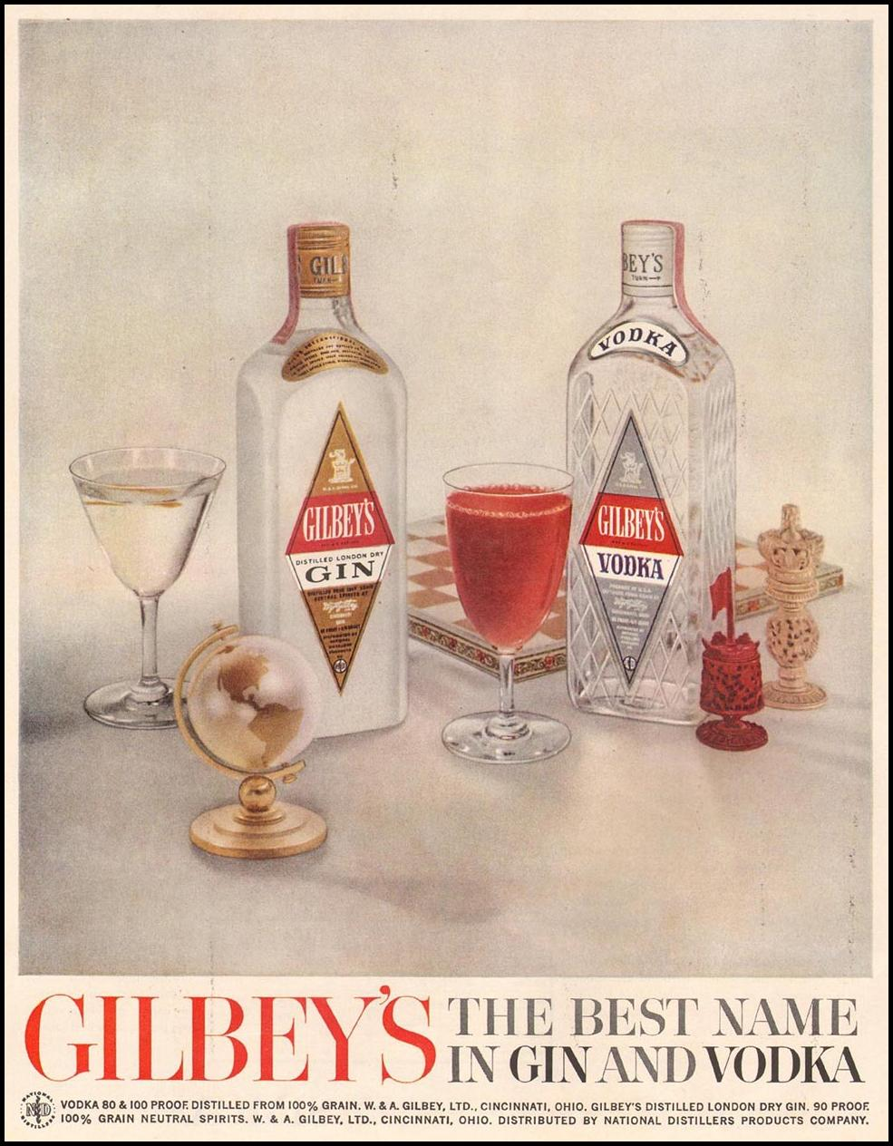 GILBEY'S GIN AND VODKA LIFE 10/05/1959 p. 122