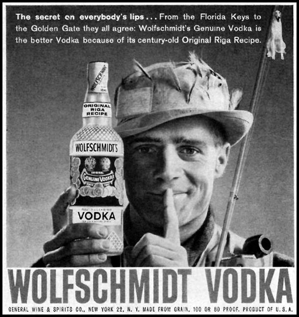 WOLFSCHMIDT VODKA TIME 05/05/1958 p. 54