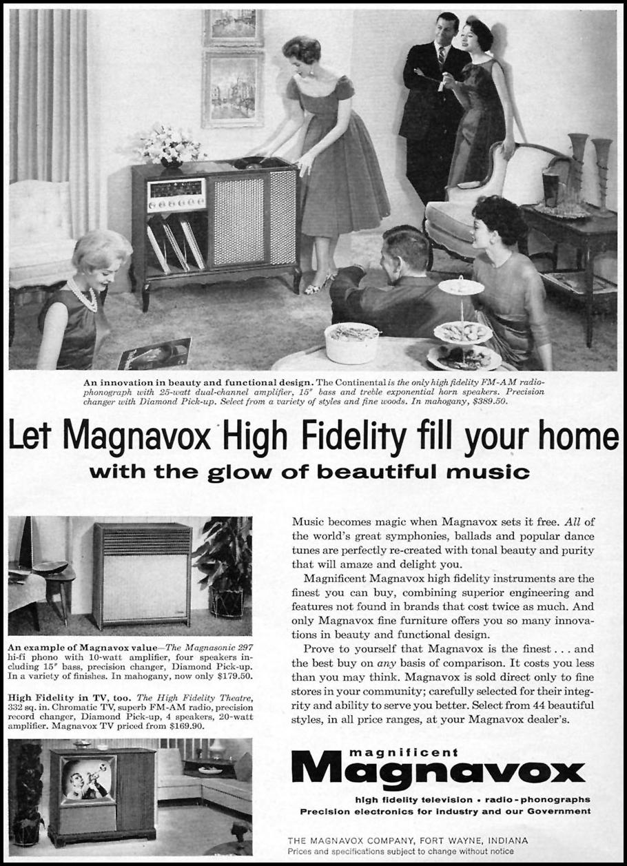 MAGNAVOX HIGH FIDELITY TELEVISION RADIO-PHONOGRAPHS TIME 05/05/1958 p. 10