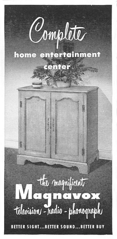 MAGNAVOX COMPLETE HOME ENTERTAINMENT CENTER TIME 06/08/1953 p. 103