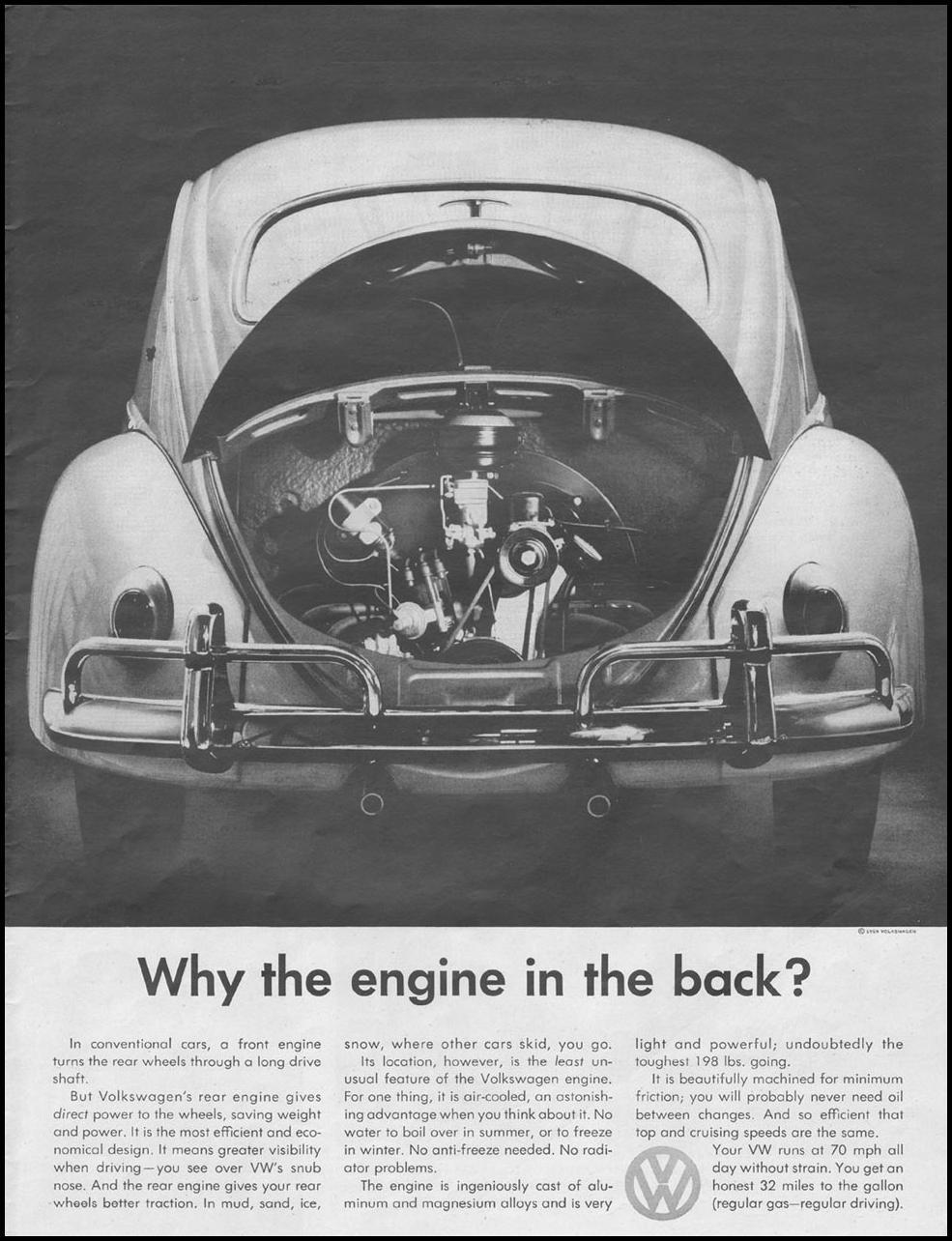 VOLKSWAGEN AUTOMOBILES LIFE 08/10/1959 p. 13