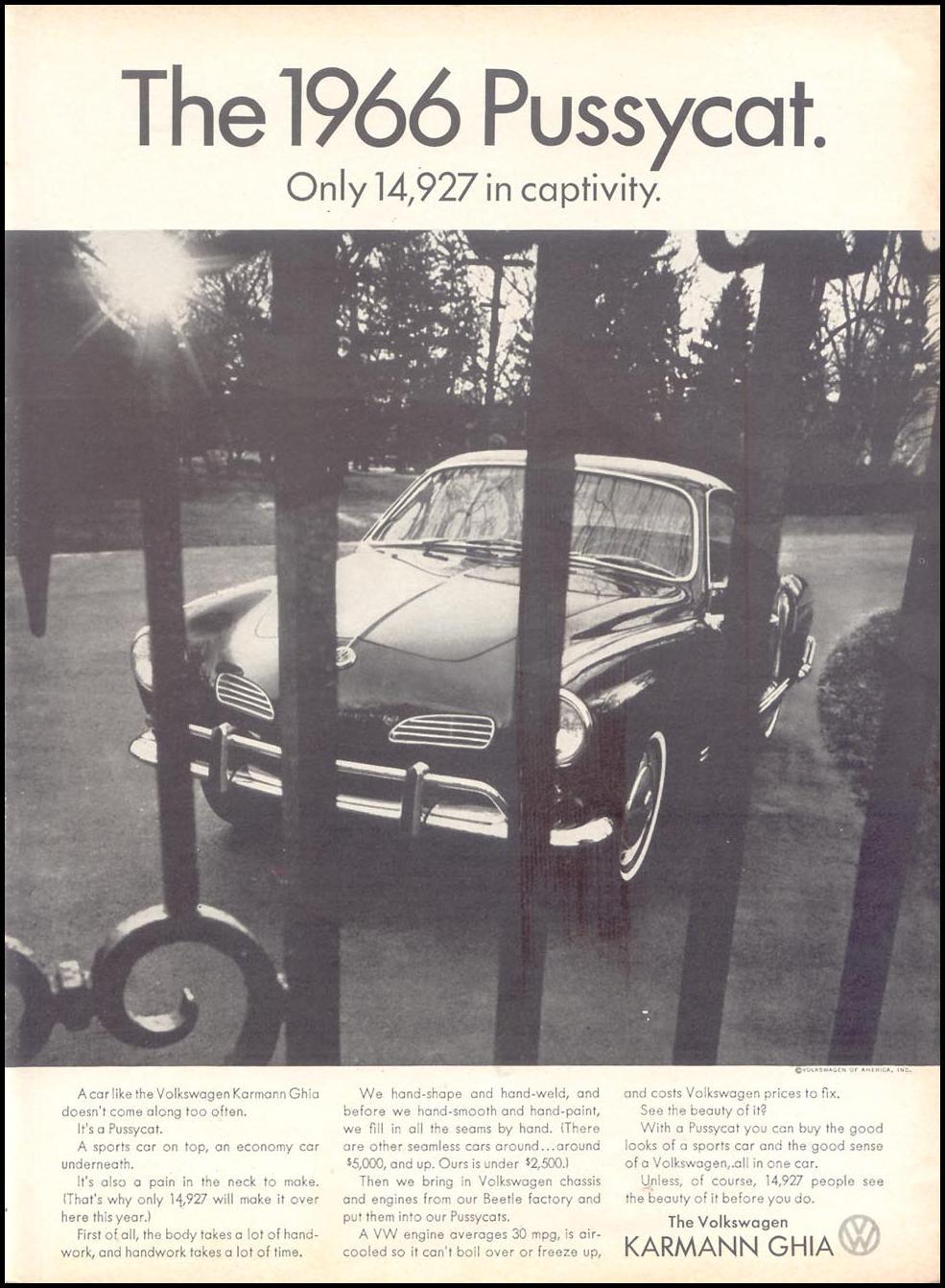 VOLKSWAGEN AUTOMOBILES TIME 03/11/1966 p. 85