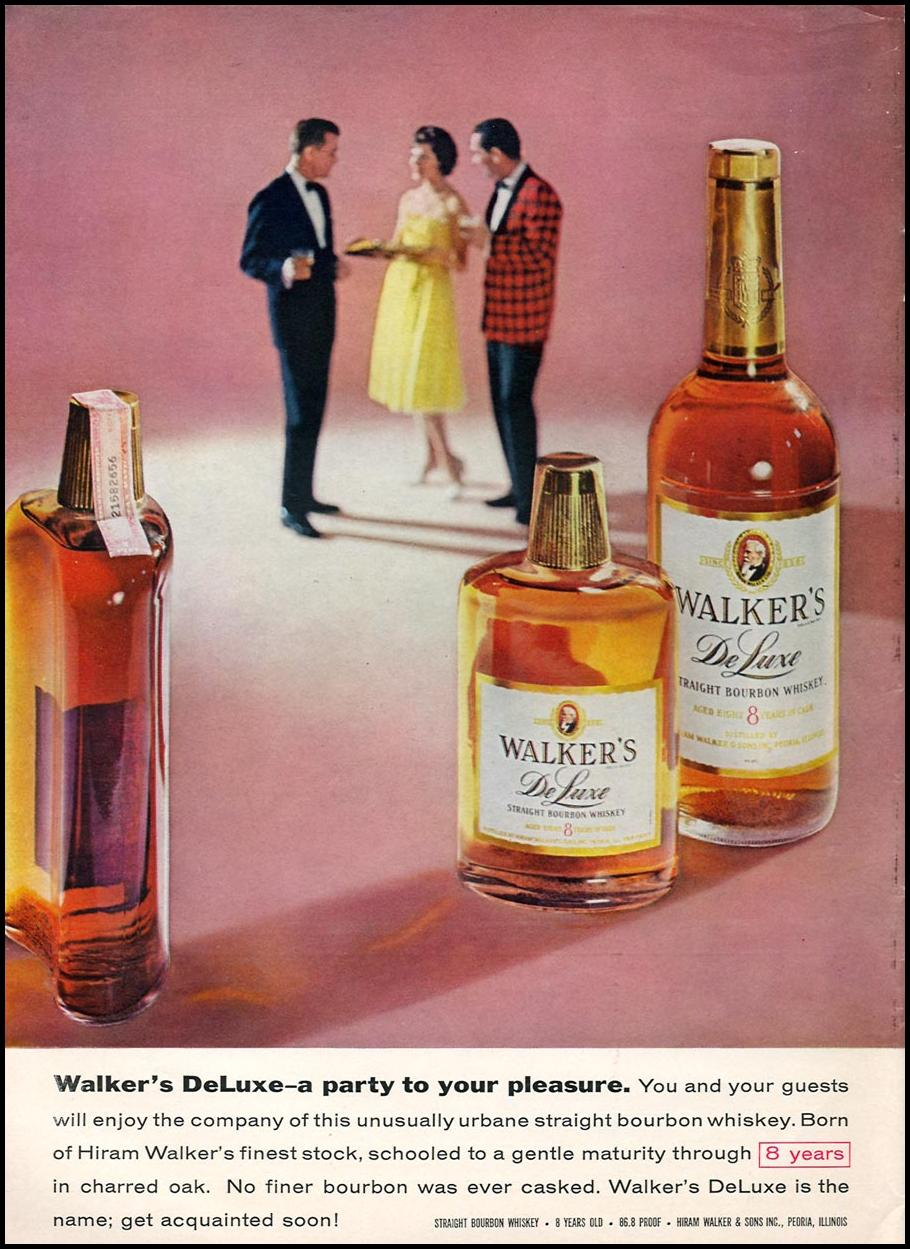 WALKER'S DELUXE STRAIGHT BOURBON WHISKEY SPORTS ILLUSTRATED 04/27/1959 p. 76