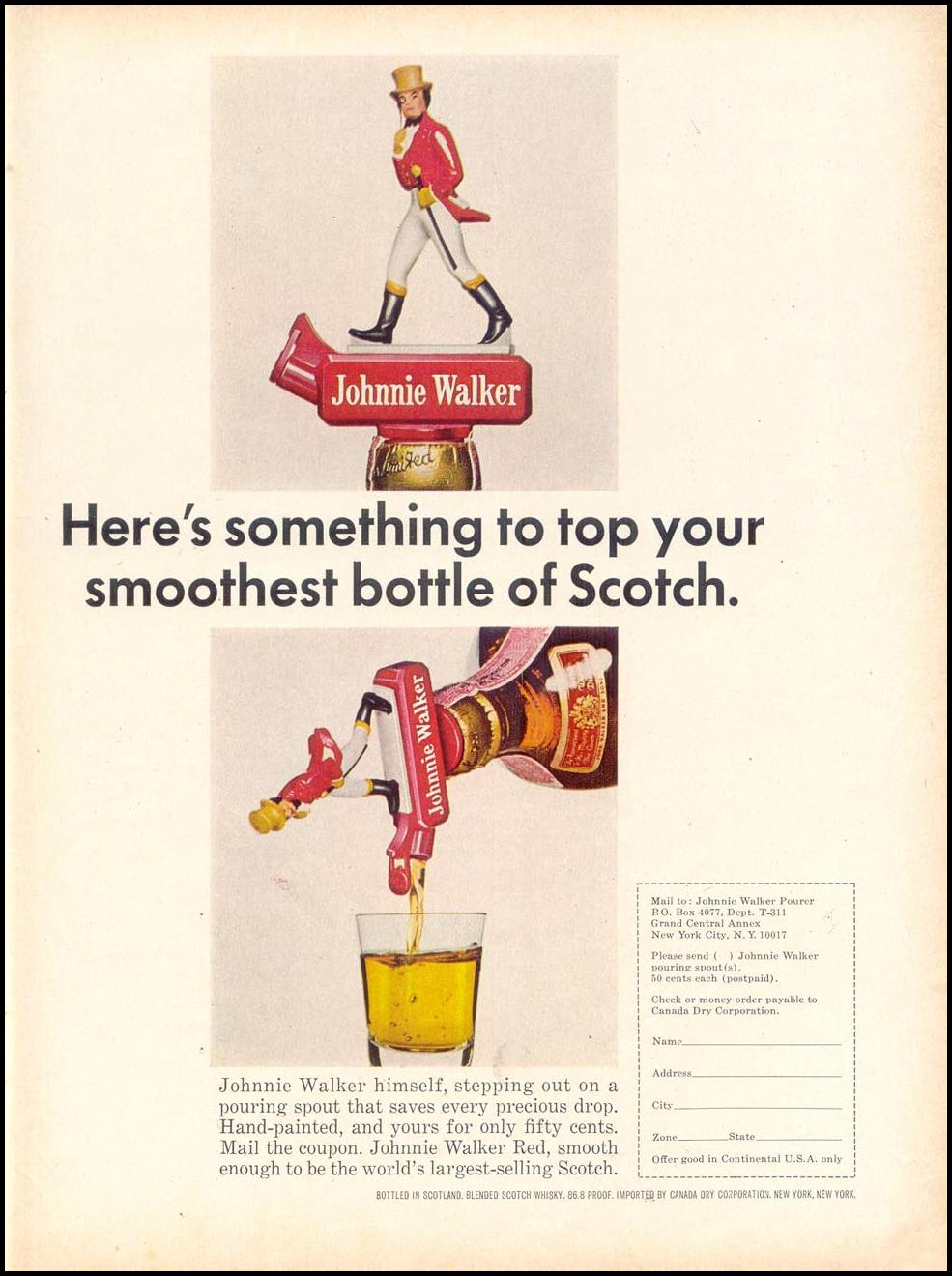 JOHNNIE WALKER SCOTCH WHISKEY TIME 03/11/1966 p. 97