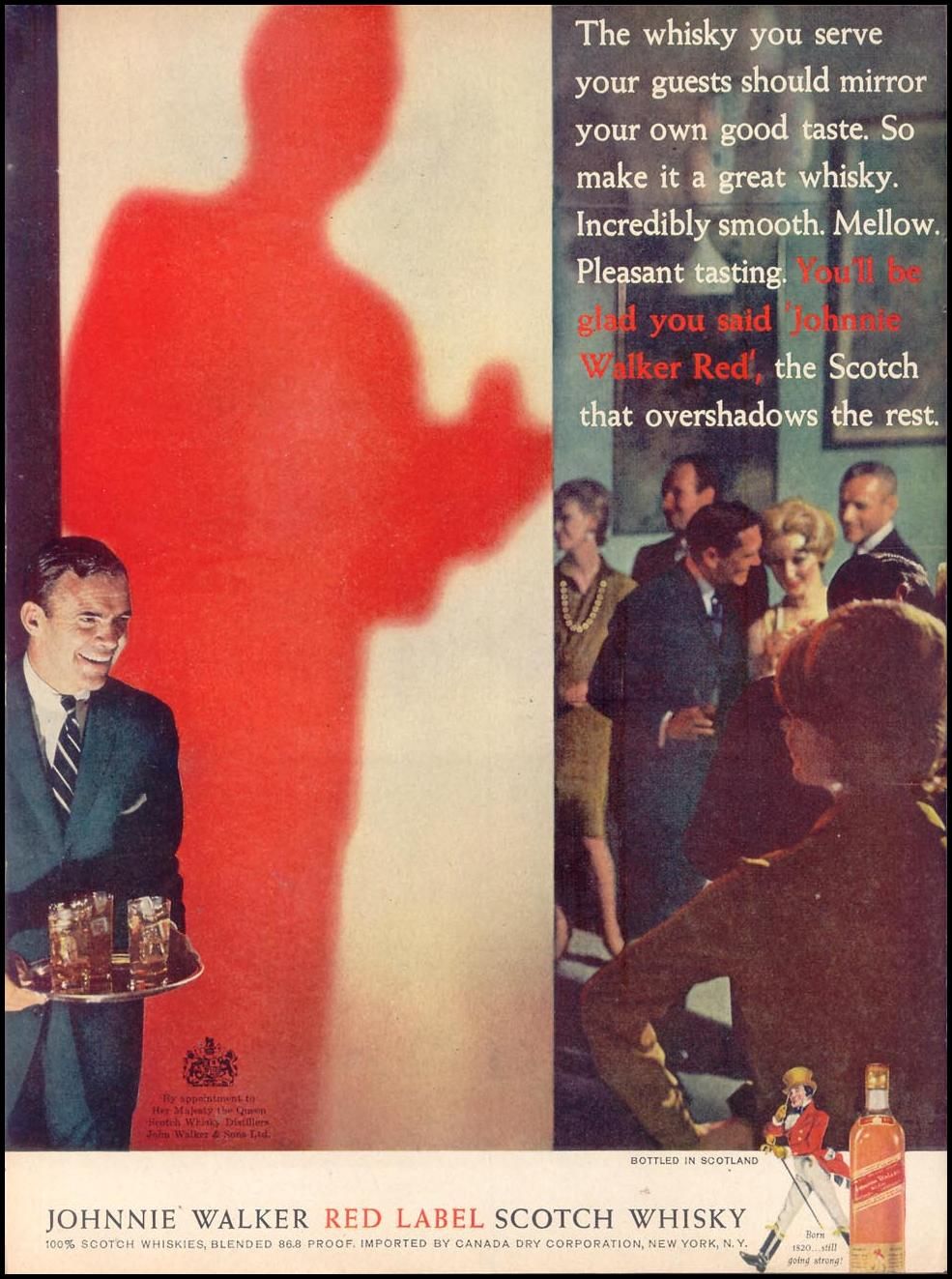 JOHNNIE WALKER SCOTCH WHISKEY TIME 11/17/1961