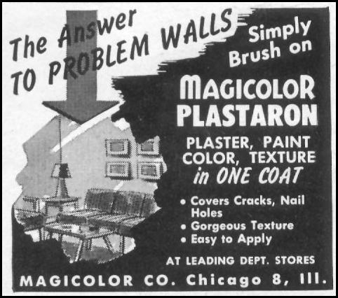 MAGICOLOR PLASTARON WALL PAINT LIFE 06/05/1950 p. 122