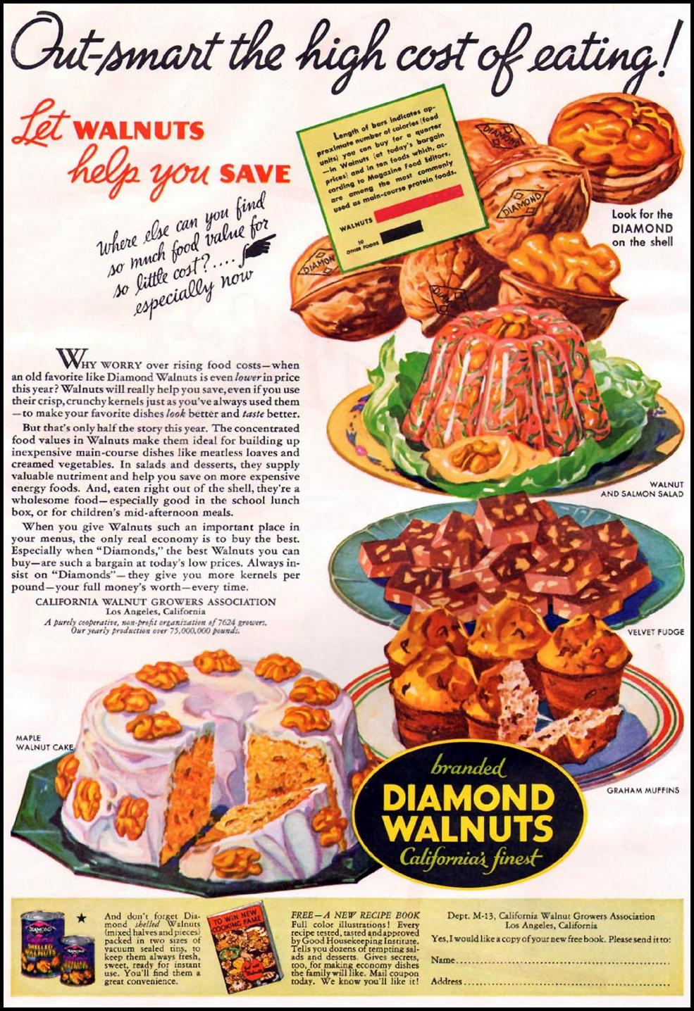 DIAMOND BRAND WALNUTS GOOD HOUSEKEEPING 12/01/1935 p. 160