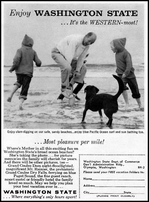WASHINGTON STATE VACATIONS BETTER HOMES AND GARDENS 03/01/1960 p. 133