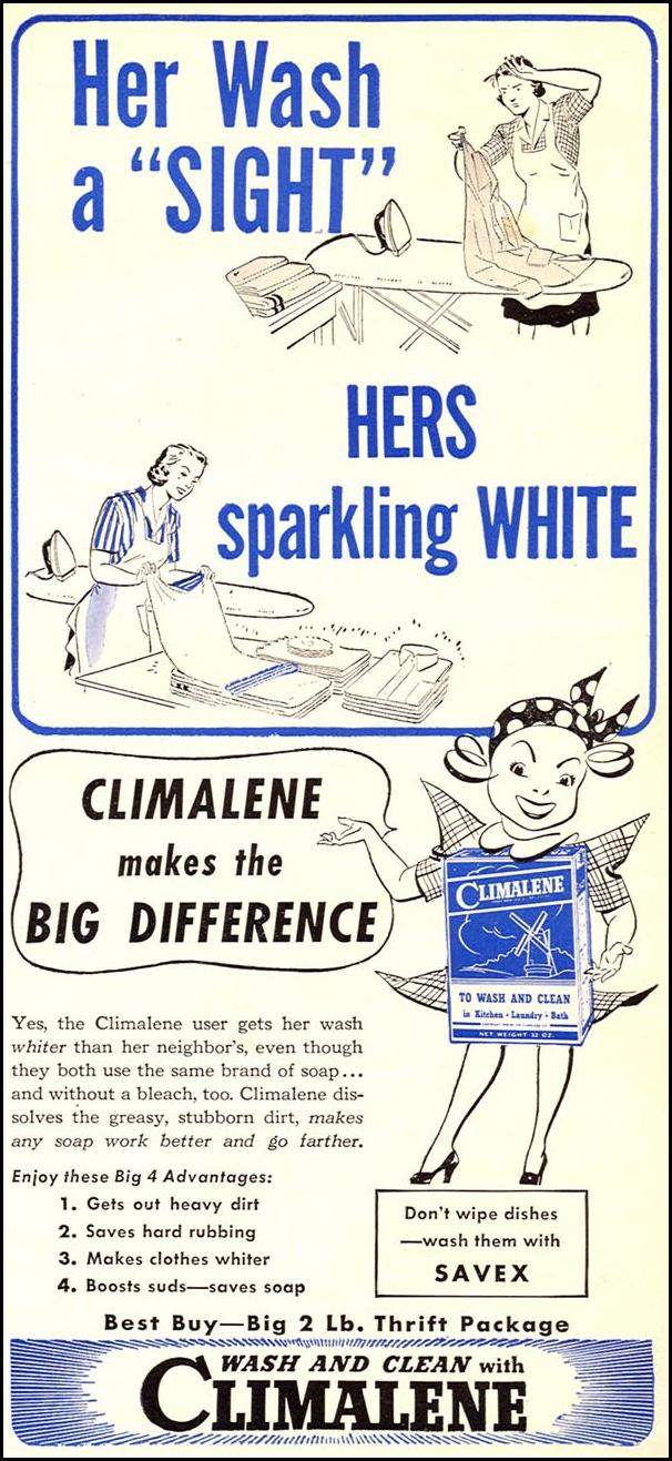 CLIMALENE DETERGENT WOMAN'S DAY 06/01/1943 p. 73