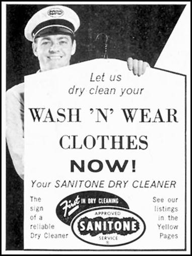 SANITONE DRY CLEANING SATURDAY EVENING POST 08/15/1959 p. 76