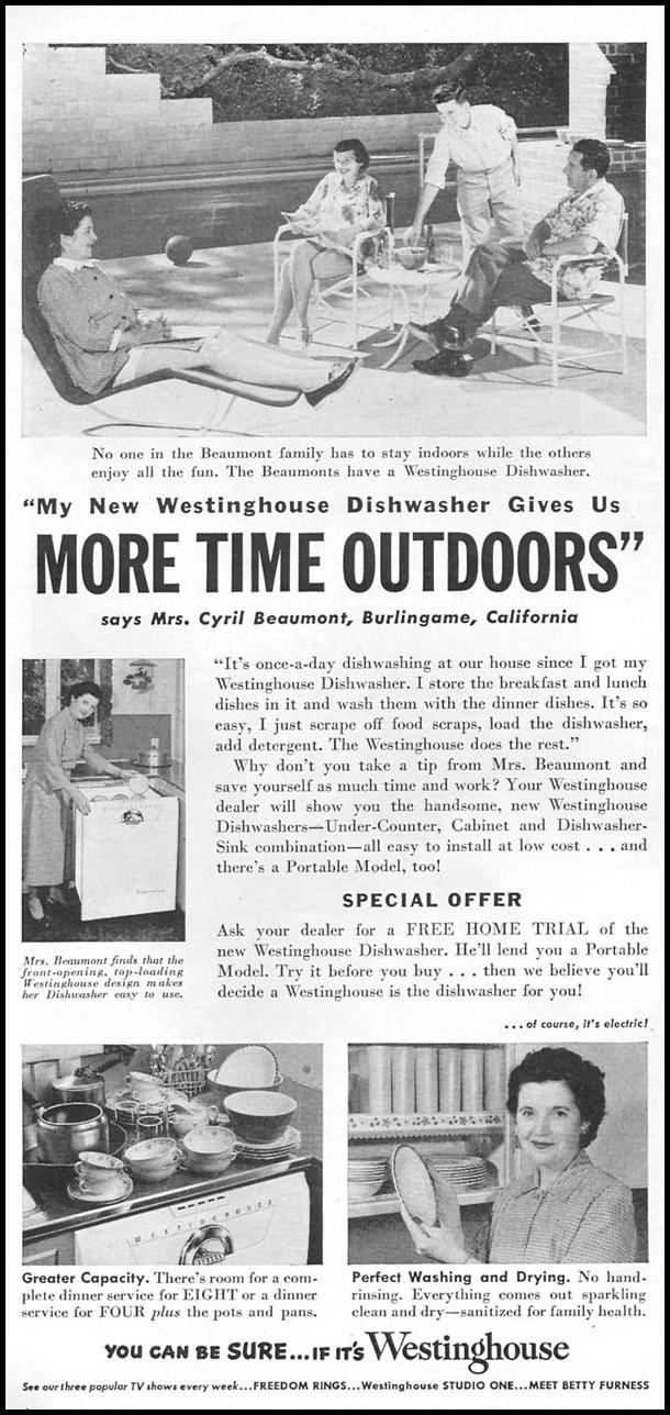 WESTINGHOUSE DISHWASHERS
