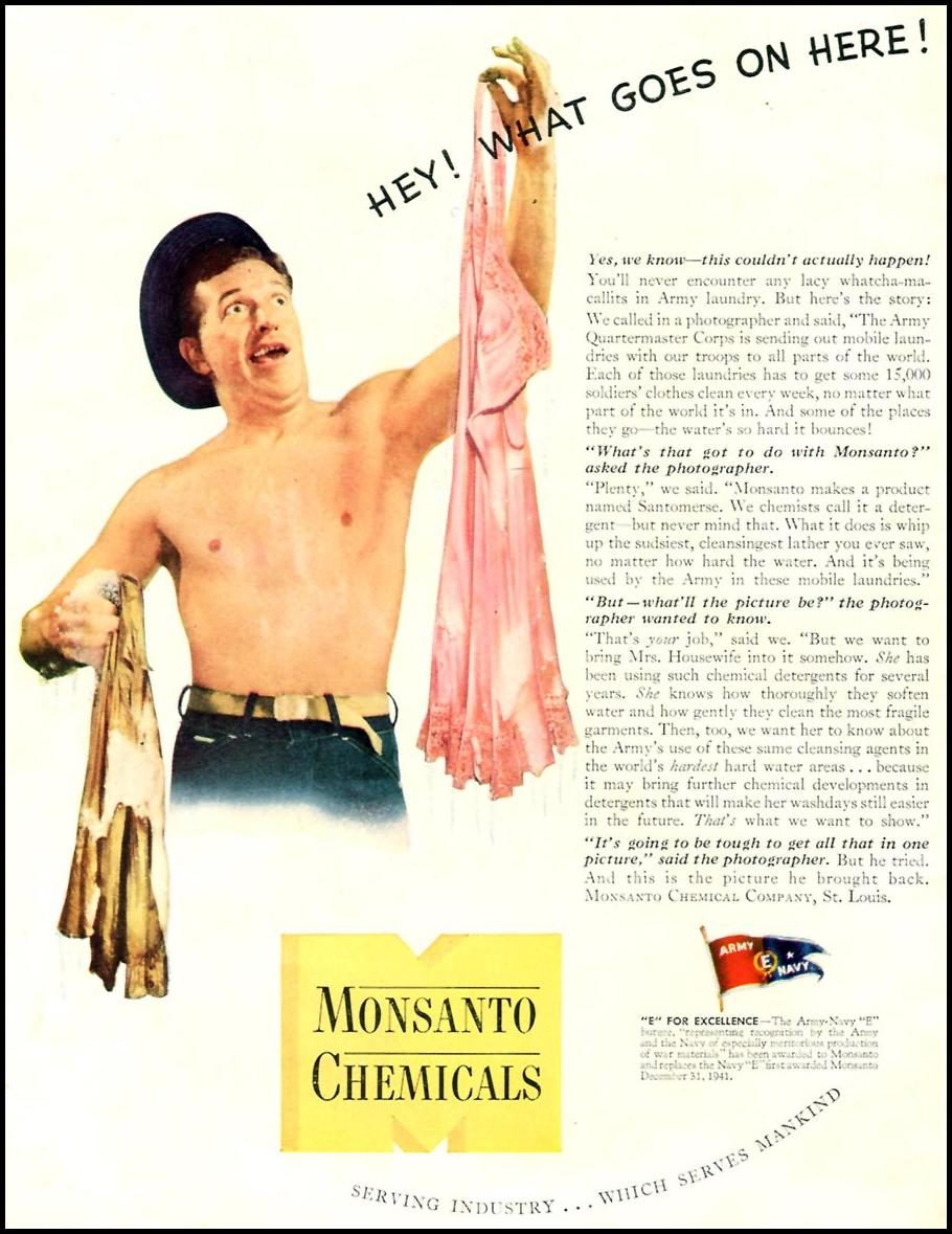 MONSANTO WARTIME PRODUCTION TIME 12/28/1942 INSIDE FRONT
