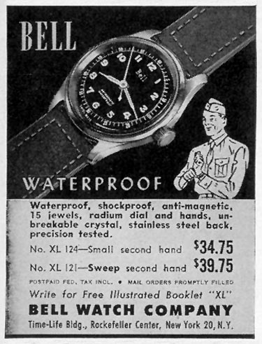 BELL WATERPROOF WATCH LIFE 02/28/1944 p. 106