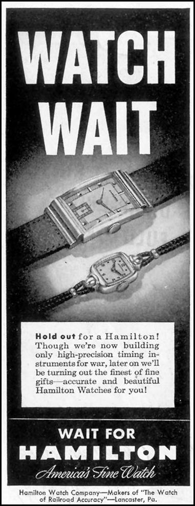 HAMILTON WATCHES SATURDAY EVENING POST 05/19/1945 p. 86