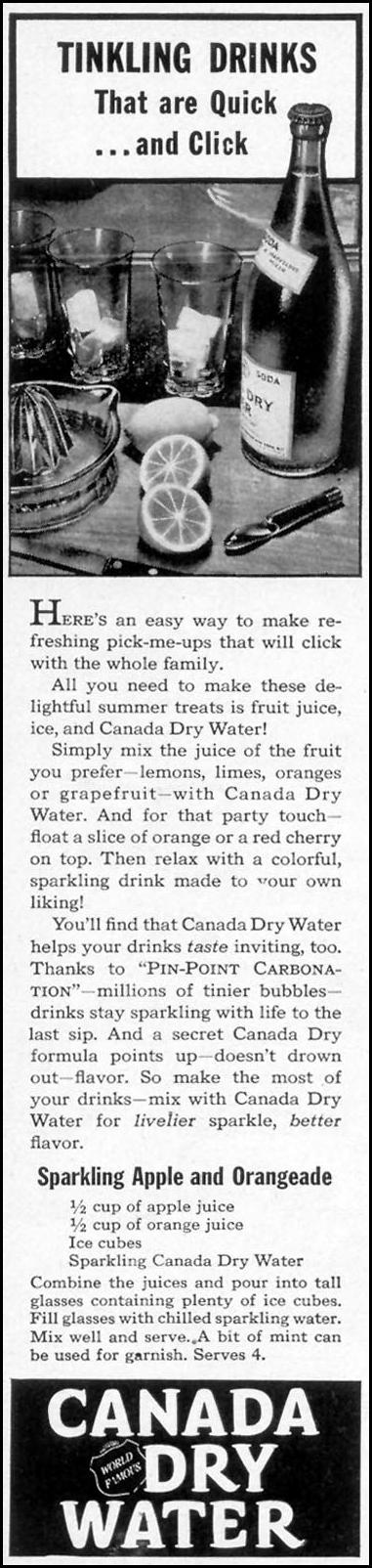 CANADA DRY SPARKLING WATER WOMAN'S DAY 07/01/1946 p. 10