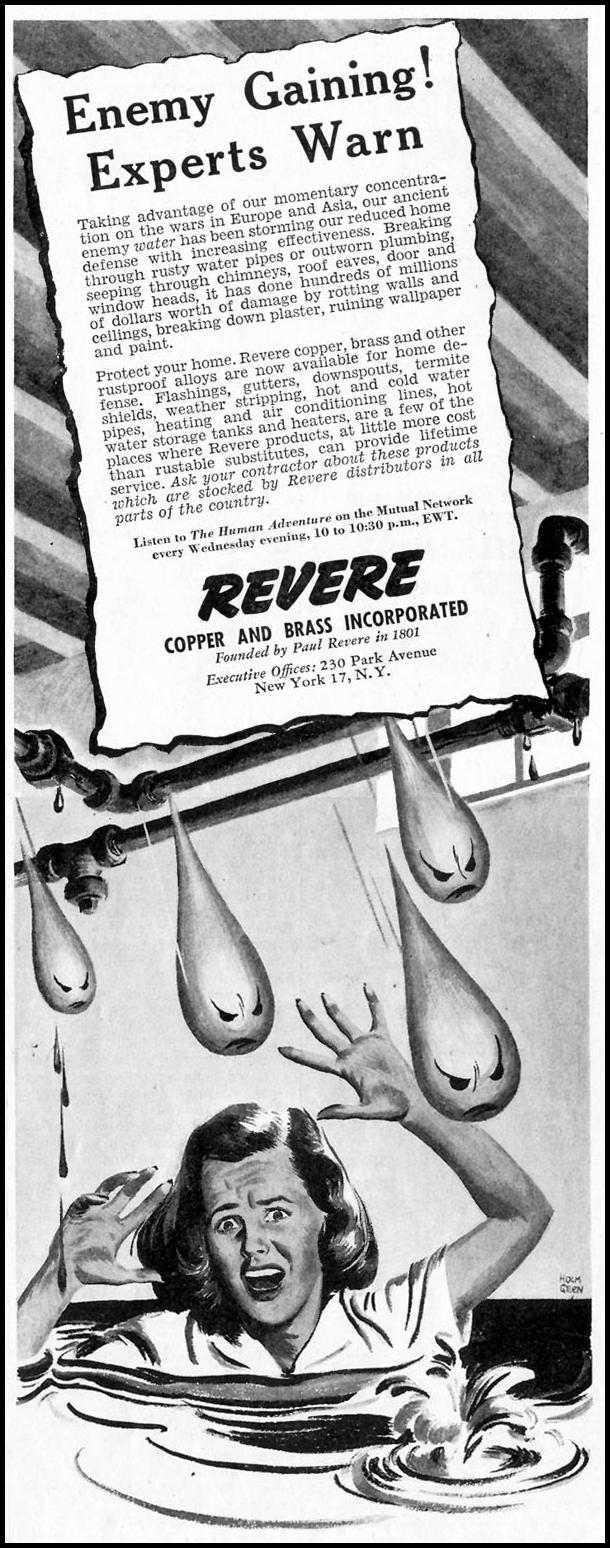REVERE HOME IMPROVEMENT PRODUCTS SATURDAY EVENING POST 10/06/1945 p. 45