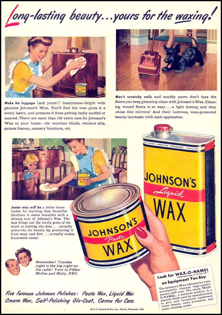 JOHNSON'S WAX WOMAN'S DAY 04/01/1946 p. 51
