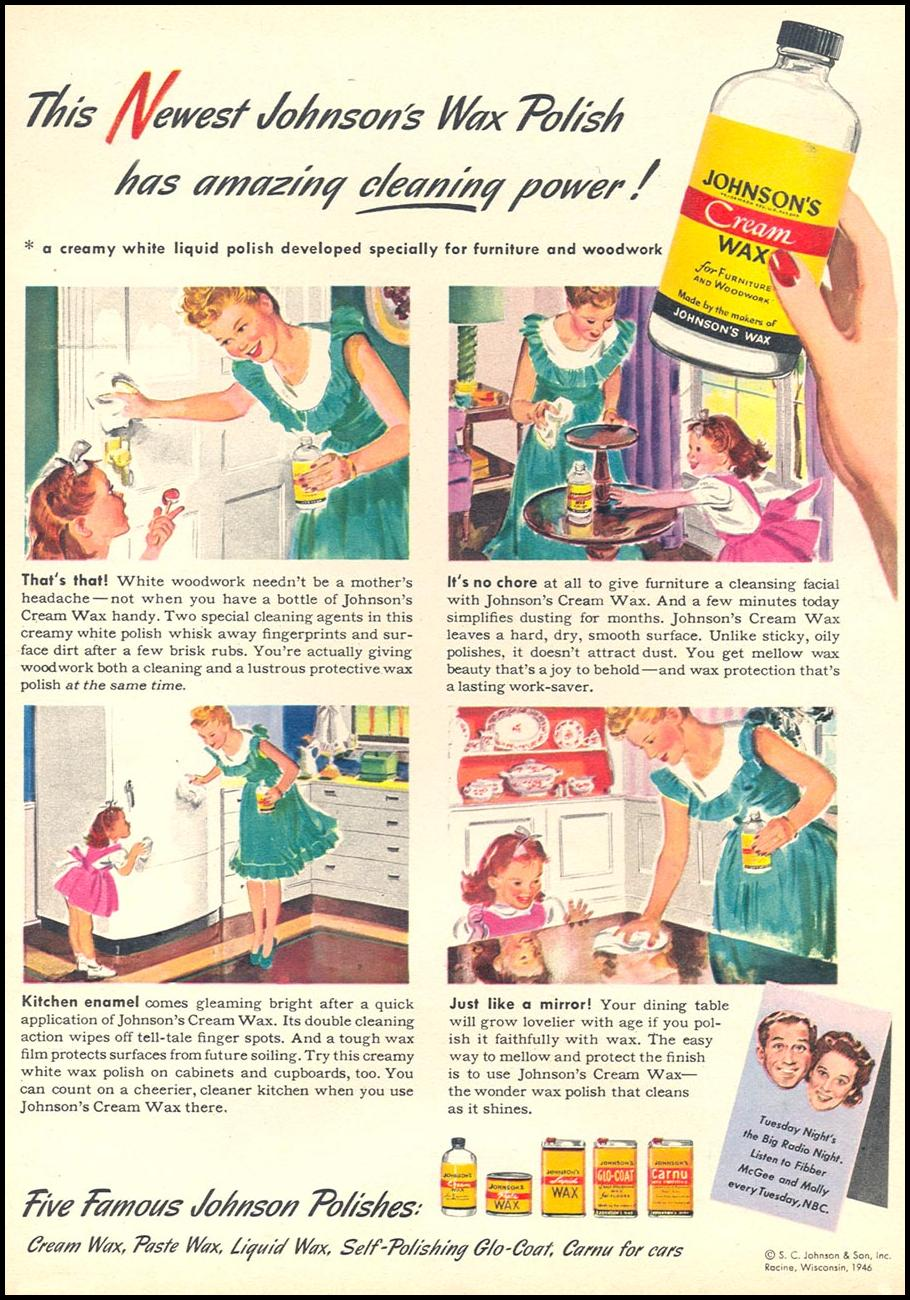 JOHNSON'S CREAM WAX WOMAN'S DAY 06/01/1946 p. 17