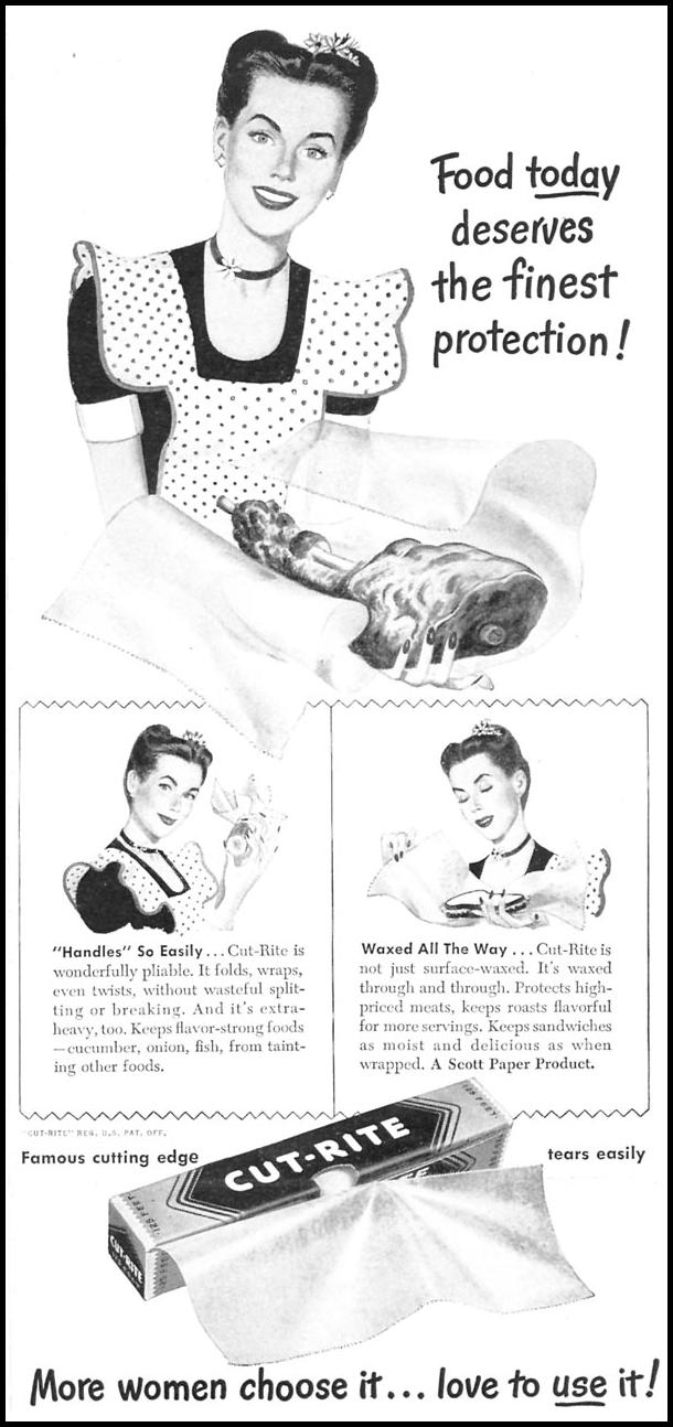CUT-RITE WAXED PAPER WOMAN'S DAY 08/01/1949 p. 59