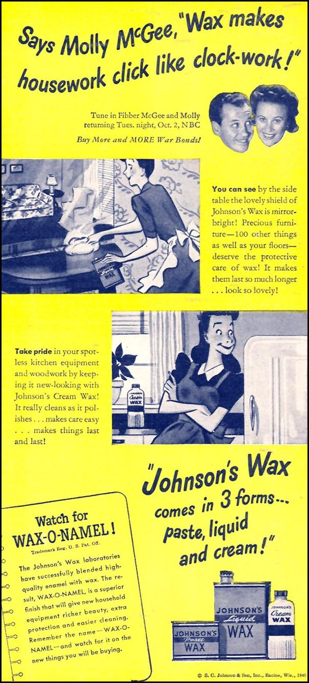 JOHNSON'S WAX WOMAN'S DAY 09/01/1945 p. 65